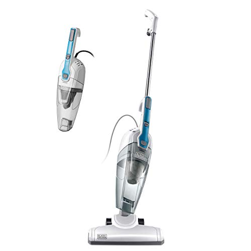 Black & Decker BDST1609 3-in-1 Corded Lightweight Handheld Cleaner & Stick Vacuum Cleaner, White with Aqua Blue (Renewed)