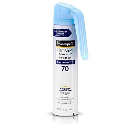 Neutrogena Ultra Sheer Spf#70 Body Mist Full Reach Spray 5 Ounce (148ml)