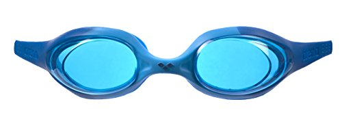 arena Kinder Unisex Training Wettkampf Schwimmbrille Spider Junior (UV-Schutz, Anti-Fog, Harte Gläser), Blue-Lightblue-Blue (78), One Size