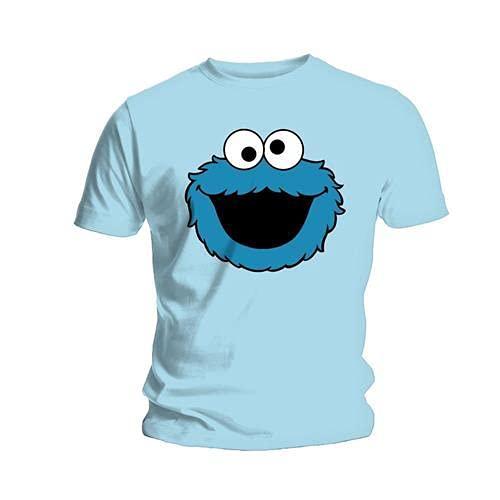 Sesame Street Coookiehead Herren-T-Shirt, kurzärmelig Gr. XL, blau
