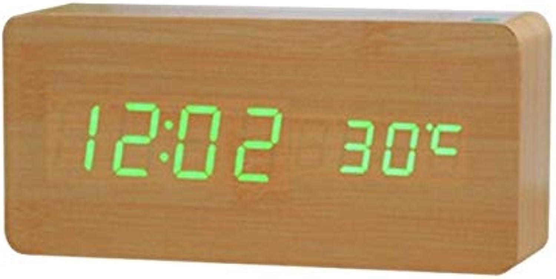 Control Sound Temperature Despertador Clock Alarm LED Green
