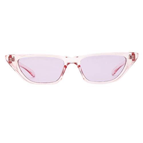 Amuzocity Mujeres Señoras Ojo de Gato Gafas de Sol Frescas Teñidas Lentes Transparentes Sombras Gafas UV400 - Púrpura, Talla única