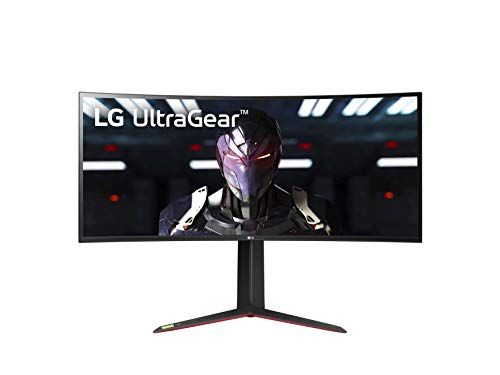 LG 34GN850-B 34 Inch 21: 9 UltraGear Curved QHD (3440 x 1440) 1ms Nano IPS Gaming Monitor with 144Hz and G-SYNC Compatibility - Black (34GN850-B)