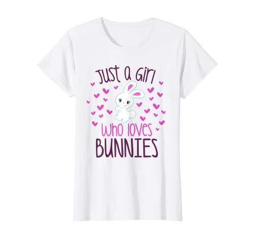 JUST A CHICA QUE AMA A LOS CONEÑOS Conejo, Mamá, Conejo, Propietario de Mascotas Niño Camiseta