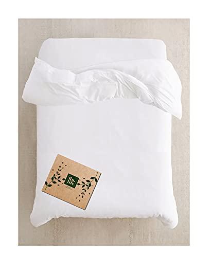 King Duvet Cover - Duvet Cover King & California King Size - Snow White - 100% Cotton - 400 Thread Count Soft Sateen - for Duvet Insert, Down / Alternative Comforter, Weighted Blanket - Long Staple