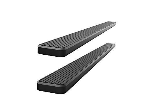APS iBoard 5in Stainless Steel Black Running Boards Custom Fit 2010-2020 Ram 2500 3500 Mega Cab Pickup 4-Door (Nerf Bars Side Steps)