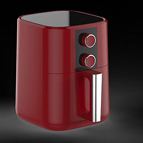 BAOZUPO Temporizador De Temperatura Ajustable para Freidora De Aire, Control De Doble Perilla, Canasta Antiadherente para Una Cocina Saludable Sin Aceite Y Baja En Grasa 5L 1350W