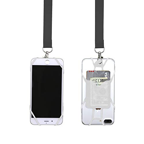 Gear Beast Universal Pocket Web Cell Phone Lanyard Compatible with iPhone, Galaxy & Most Smartphones Includes Web Phone Case Holder, Soft Neck Strap with Breakaway Safety Clasp