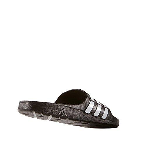 adidas Unisex Adult Duramo Slide Open Toe Sandals, Black (Black/White/Black), 4 UK