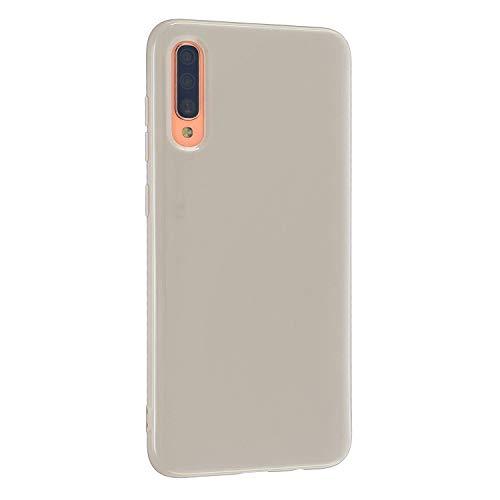 CrazyLemon Hülle für Samsung Galaxy A71, Niedlich Volltonfarbe Klar Gelee Design Weich TPU Silikon Slim Dünn Handyhülle Stoßfest Schutzhülle - Khaki