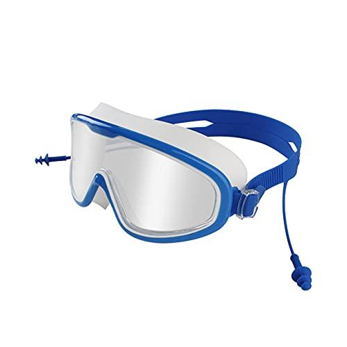 LORIEL Gafas De Natación para Adultos, Gafas De Silicona De Marco Grande, 180 ° HD, A Prueba De Agua Y Anti-Niebla, Gafas De Baño, para Aguas Termales/Piscinas/Playa,B