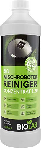 BIOLAB Bio Reinigungsmittel für Wischroboter und Saugroboter mit Wischfunktion - Reinigungsflüssigkeit Reiniger Bodenreiniger Konzentrat (1000 ml)