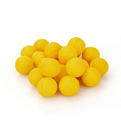 EBTOOLS Paquete de bolas de bala de recarga de rondas amarillas de 100 piezas para Rival Zeus MXV-1200 Apollo XV-700 Blaster, 2.3CM