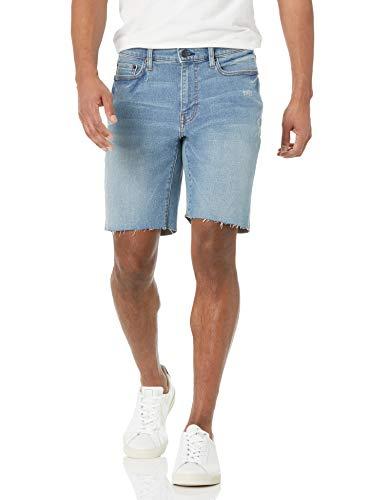 Amazon Essentials Pantalón Mezclilla con Corte de Entrepierna de 22,8 cm, Destrucción Ligera, 33W