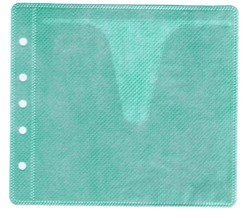 100 CD Double-sided Refill Plastic Sleeve Green