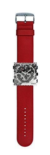 S.T.A.M.P.S. Stamps Uhr komplett - Zifferblatt Allure mit Armband Satin rot