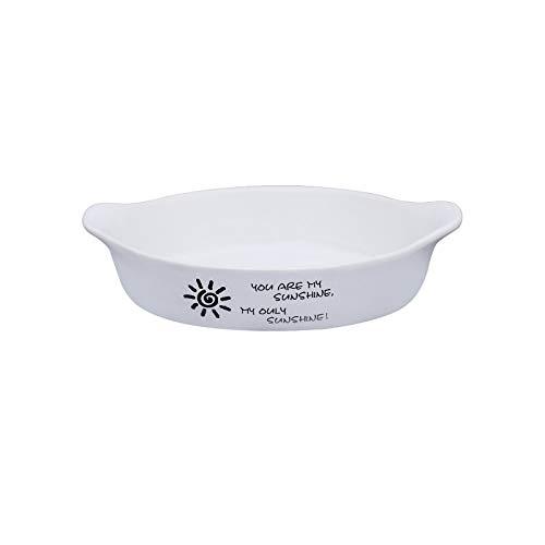 STRAW Plato de cerámica Colorido para Hornear Cuenco de Postre Ramekin Baker Plato de Cena Redondo con asa Platos de Pasta vajilla para el hogar (Color : D)