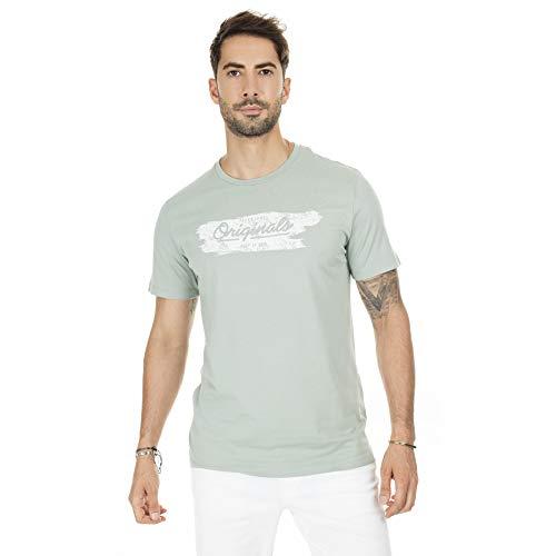 Jack & Jones JORTORINO tee SS Crew Neck FST Camiseta, Green Milieu, S para Hombre