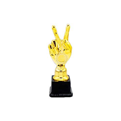 TOYANDONA Juego de trofeos de plástico Competencia Deportiva Copa de premios recompensa Creativa para niños Estudiantes (18.5cm)
