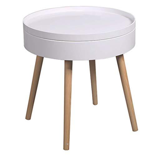 Tafel- Kleine Ronde Tafel Woonkamer lage tafel Nachtkastje kleine salontafel Bedroom Corner Koffietafel, Maat: 49,5 * 51,5 Cm/Kleur: Grijs (Color : Gray, Size : 49.5 * 51.5cm)