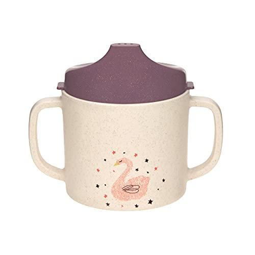 Lässig Tasse d´Apprentissage tasse pour enfants avec anse et couvercle/Sippy Cup PP/Cellulose Little Water Swan