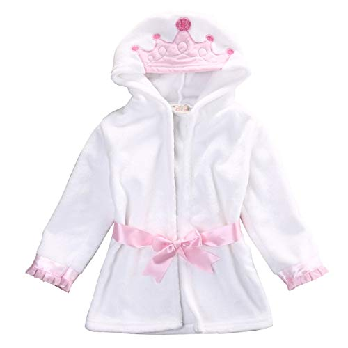 0-5T Süße Baby Badetuch Coral Fleece Decke Infant Hooded Wrap Bademantel Animal Kids Hooded Badetuch Infant Badedecke-pink white-2-4 to 5 T
