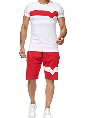 Tomwell Traje Deportivo Verano Traje de Ocio Camiseta Top + Pantalones Cortos...