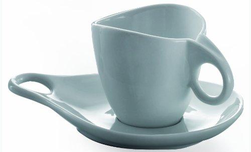 BUGATTI Milla Espressotasse mit Untertasse, Porzellan, Weiß, 6 Stück