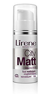 Lirene CITY MATT matting-smoothing make up - beige (30ml)