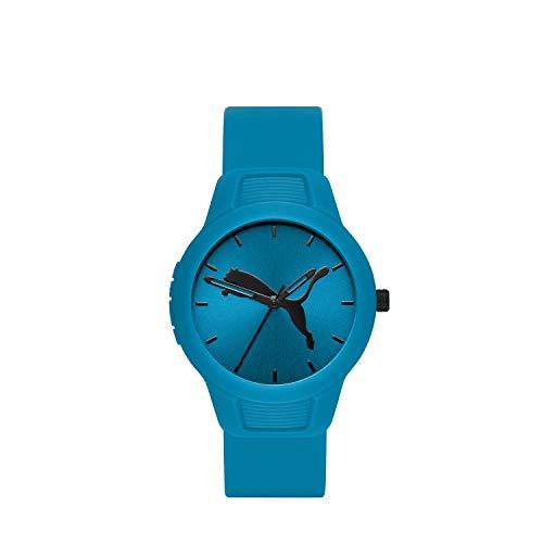 Puma P1014 Reloj Puma Dama, Correa Poliuretano Azul, Caratula Azul, Analogo for Accesorios, Azul, Mujer Estándar