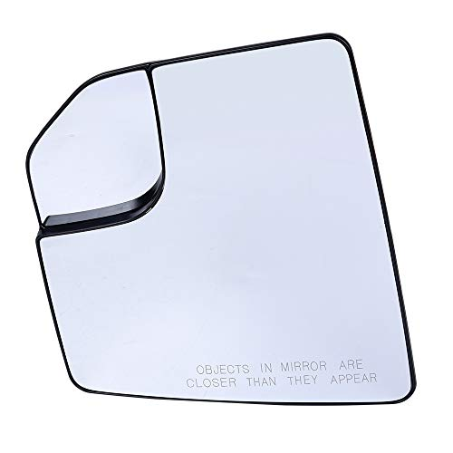 Left Driver Side Mirror Glass with Backing Plate Compatible For Ford F150 2015-2018 Pickup Truck