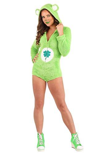Care Bears Women's Good Luck Bear Romper Costume Large Green