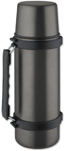 Isosteel Titan-Grau VA-9553AT Isolierkanne mit Schraubverschluss, 1,0 L, Edelstahl, 9.4 cm