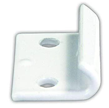 JR Products 10855 Fold Down Camper Catch - White
