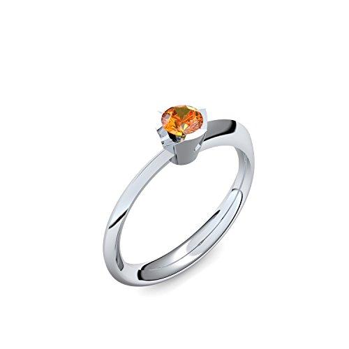 Platin Ring Feueropal 950 + inkl. Luxusetui + Feueropal Ring Platin Feueropalring Platin (Platin 950) - Devious Amoonic Schmuck Größe 50 (15.9) MW14 PL950FOFA50