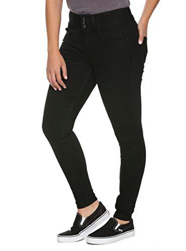 Hot Topic HT Denim Black Hi-Rise Super Skinny Jeans Black 11 28INSEAM