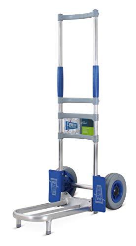 Vollmontierte EXPRESSO Alu Sackkarre für Koffer / 75kg - 100kg / pannensichere breite Räder/Klappbare Rohrschaufel: L 42,5 x B 22 cm / AE25127645