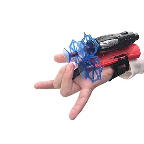 GDZTBS Guantes de Lanzamiento, Guante de Plástico para Cosplay, Juego de Juguetes de Muñeca Lanzador de Héroes, Juguetes Educativos para Niños, para Accesorios de Disfraces