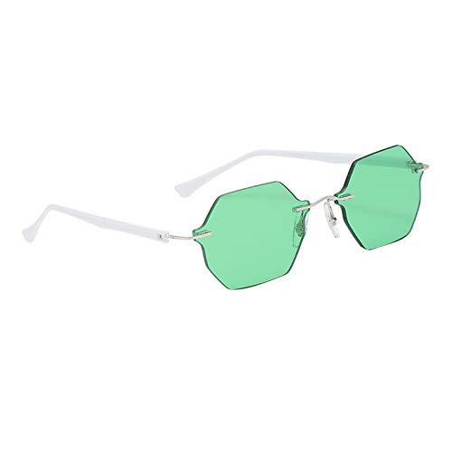 FITYLE Gafas de Sol de Estilo Moderno para Mujer sin Montura Pilot UV400 Protection Driving Travelling Gafas de Sol Ligeras Lentes gradientes Gafas de - Verde