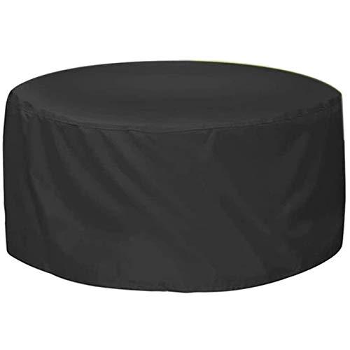 BAOFI Cubierta De Muebles De Jardin 95x140cm, Fundas De Muebles Impermeable Marrón Exterior Patio Mesas Redondo, Prueba De Viento Tela Oxford para Sofá De Jardín, Exterior, Mesa Silla