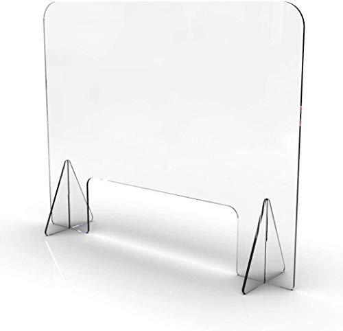 GLYYR Schallwand Acryl Bildschirm Partition Praktischer klarer Empfangsschutz, Plexiglas Sneeze Guard Panel Schutzschild Acryl transparenter antimikrobieller Schreibtisch/Tisch/Arbeitsplatte, 60x8