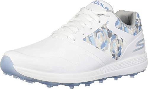Skechers Women's Max Golf Shoe, White/Blue, 9.5 M US