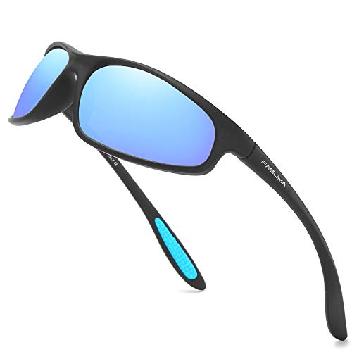 FAGUMA Polarized Sports Sunglasses For Men Cycling Driving Fishing 100% UV Protection