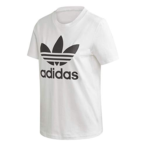 adidas Originals Women's Trefoil T-Shirt, White/Black, M