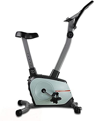 ZJDM Bicicleta estática de Bicicletas magnéticas para Interiores, con Monitor LCD de frecuencia cardíaca, Resistencia magnética de 8 Niveles, Volante bidireccional de 4 Kg, Altura del Asiento aju