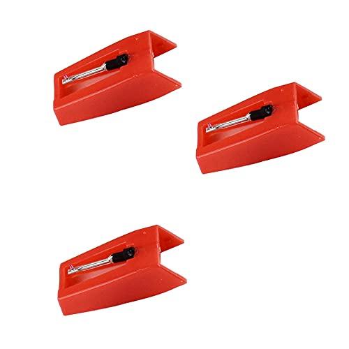 Clyhon Aghi Punta Diamante, 3 Pezzi Sostituzione Ago per Giradischi Puntine Stilo Universali Aghi di Ricambio Giradischi Aghi per Stilo Diamantati di Ricambio per Giradischi Testine Fonografiche