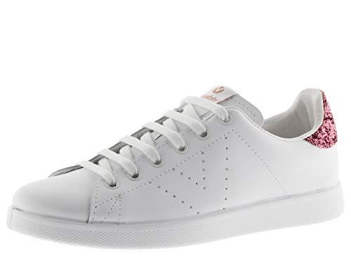victoria 1125104-KIDS Tenis Sneaker Pelle Flatform Donna Hibiscus 34