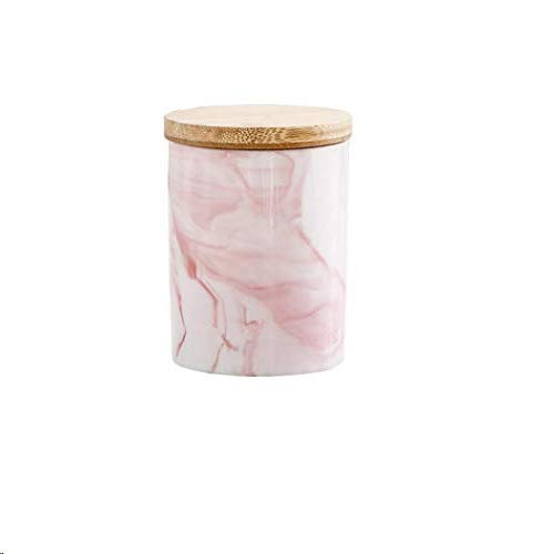 Food Storage Canister, Ceramic Food Storage Jars with Airtight Bamboo Lid, for Home and Kitchen Serving for Coffee, Sugar, Tea, Flour (2)