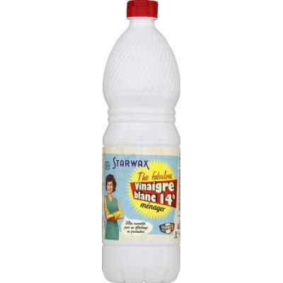 STARWAX FABULOUS Vinaigre Blanc 14° sans Parfum - 1L - Idéal pour Détartrer les Surfaces Lavables