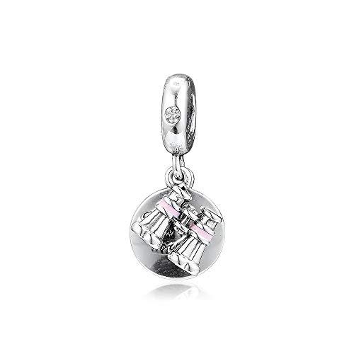 LIJIAN DIY 925 Sterling Schmuck Charm Perlen Herz Fernglas Joyas Kralen Machen Sie Original Pandora Halsketten Und Fußkettchen Geschenke Für Frauen